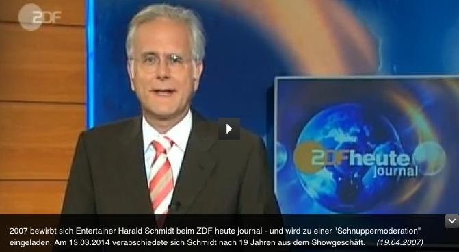 TV-Dinosaurier Harald Schmidt hört auf – warum er beim ZDF heutejournal anheuernsollte