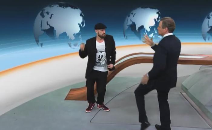 Wenn Claus Kleber durchs ZDF heute journalgroovt